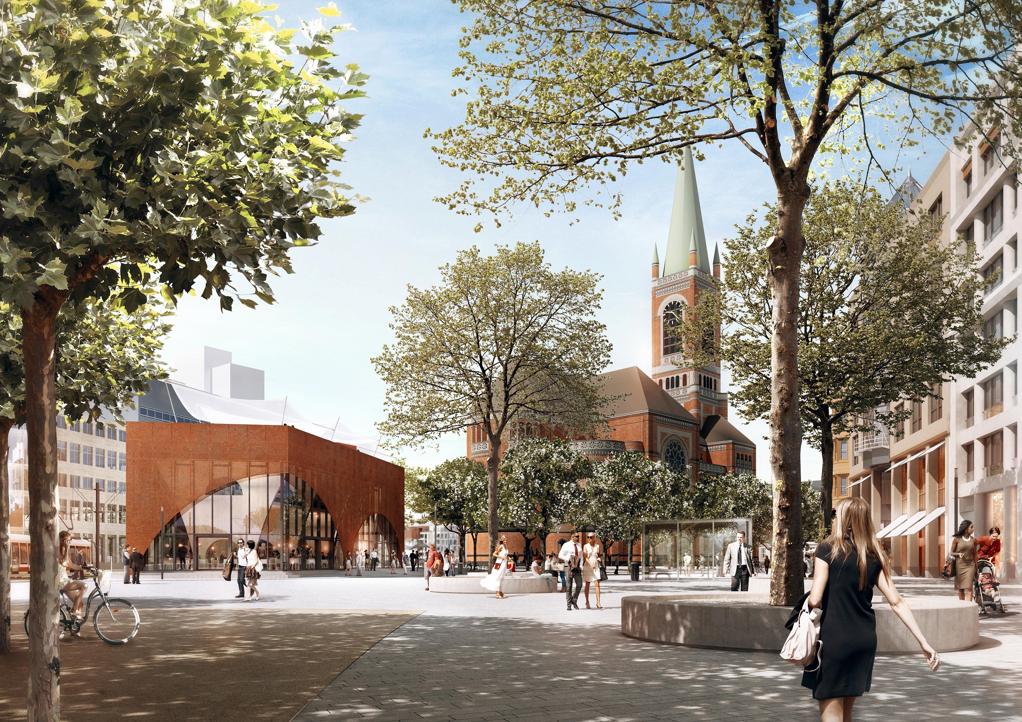 Gastro pavillon kr nt d sseldorfs neue citymeile for Gastro architektur